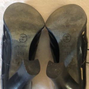 CHANEL Shoes - CHANEL Ankle Wrap Heels Size 35.5 gently used